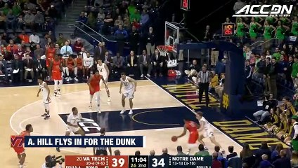 Virginia Tech's Ahmed Hill Flies In For The Dunk