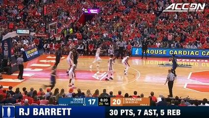 Duke's RJ Barrett Steps Up To Deliver Duke A Win