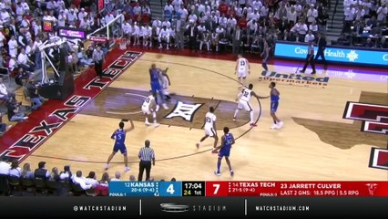 No. 12 Kansas vs. No. 14 Texas Tech Basketball Highlights (2018-19)