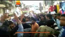 गोंडा दोहरा हत्याकांड : छात्रों के लिए निकला कैंडिल मार्च