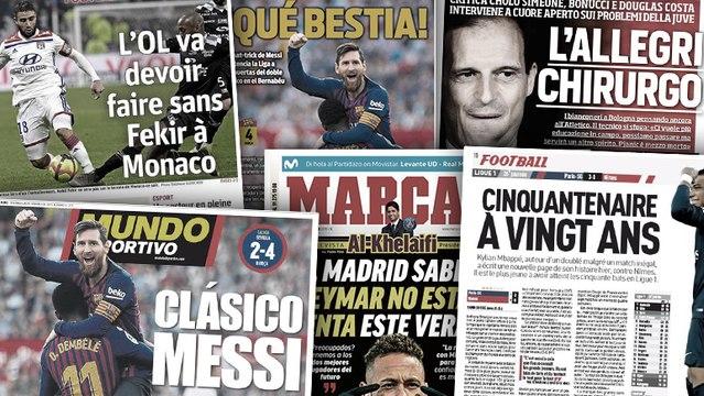 La prestation XXL de Lionel Messi fait les gros titres en Espagne, Massimiliano Allegri réclame du changement à la Juve