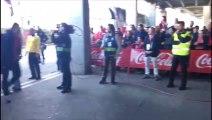 Sporting-Rayo Majadahonda: Llegada del Sporting a El Molinón