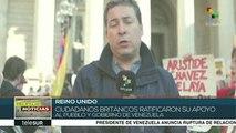 Protestas en Londres para exigir la devolución del oro a Venezuela
