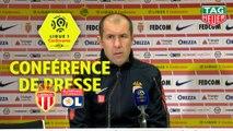 Conférence de presse AS Monaco - Olympique Lyonnais (2-0) : Leonardo JARDIM (ASM) - Bruno GENESIO (OL) / 2018-19