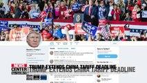 Trump extends China tariff deadline, citing progress on trade talks