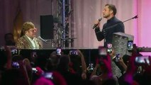 Elton John performs 'Tiny Dancer' with Taron Egerton
