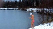 Winter Swimming Training