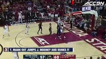 Florida State's Terance Mann Out Jumps John Mooney And Dunks It