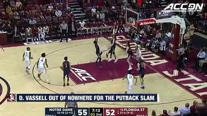 Florida State's Devin Vassell Comes From Nowhere For The Putback Dunk