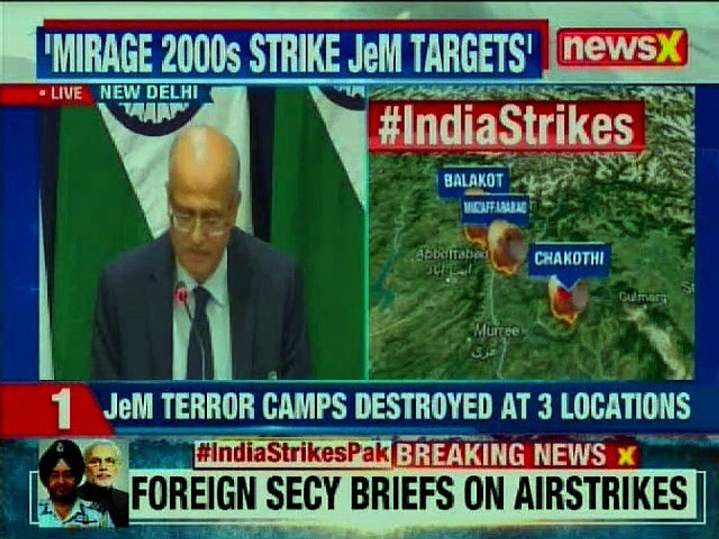 Indian Air Force Strike on Pakistan LIVE: MEA addresses the media on destroying JeM terrorist camps