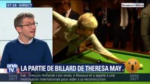 La leçon de billard de Giuseppe Conte à Theresa May en Égypte