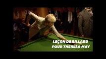 Theresa May défiée par Giuseppe Conte au billard