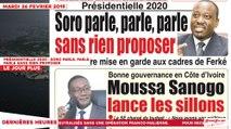 Le Titrologue du 26 Février 2019 : Présidentielle 2020, Soro parle, parle, parle sans rien proposer