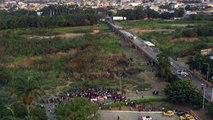 Venezuela: manifestations à la frontière avec la Colombie