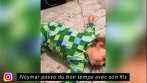 Neymar passe du bon temps avec son fils, Thiago Silva dégivre sa voiture à Paris