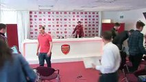 Arsenal look ahead to facing Bournemouth in the English Premier League