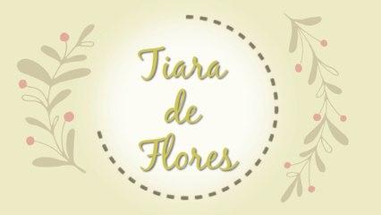 Tiara de flores - DIY