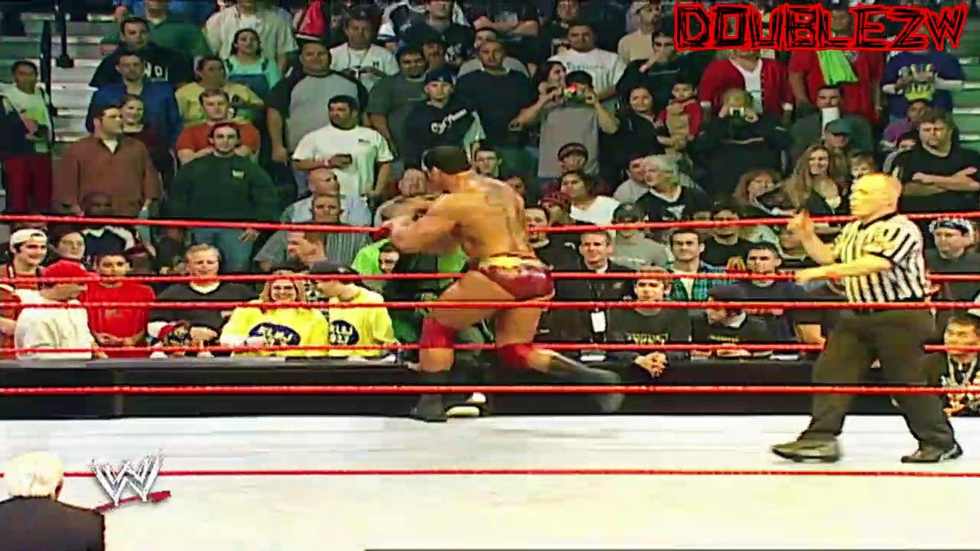 Batista vs. The Hurricane - 12-2-2002 Raw