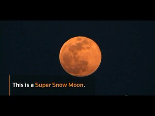The night sky in Europe was host to a Super Snow Moon