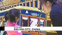 شاهد: صورة مصنوعة من 80 ألف قطعة ليغو لإحياء ثقافة التلفريك في الصين
