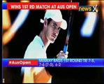 British tennis player Andy Murray wins first game in Australian Open