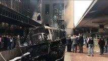 Egypte : accident puis incendie d'un train au Caire, 20 morts