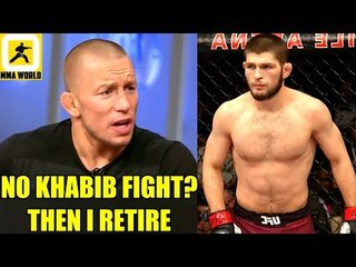 BREAKING NEWS-GSP to Retire from MMA after fight with Khabib didn't materialize,Tyron Woodley