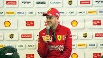 Ferrari's Sebastian Vettel speaks after crashing into barrier in testing