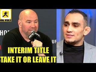 Tony Ferguson being offered an interim title fight next is borderline Disrespectful,Woodley,Usman