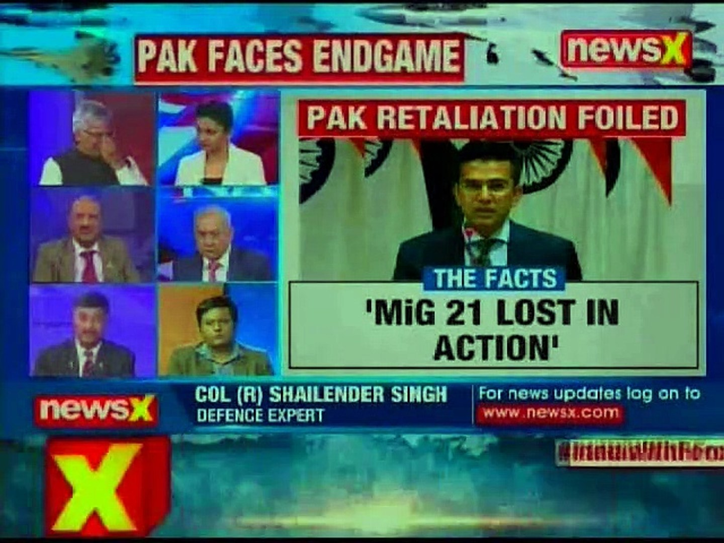 IAF Wing Commander: 2 Indian aircraft shot, 2 IAF pilots arrested claims Pakistan   Nation at 9