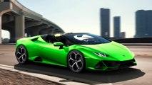 Automobili Lamborghini stellt auf dem Genfer Autosalon 2019 den Huracán EVO Spyder vor