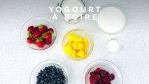 Yogourt à boire aux fruits
