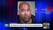 Man sets fire in apartment to get rid of roommates who were bullying him