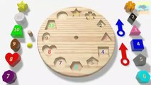 Educational Aids- learn clock with shapes & colors