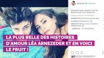 """PHOTO. """"Le plus heureux"""": Jean-Baptiste Maunier bientôt papa pour la première fois, sa compagne Léa Arnezeder est enceinte"""