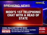 Chinese PM calls up Indian PM Narendra Modi