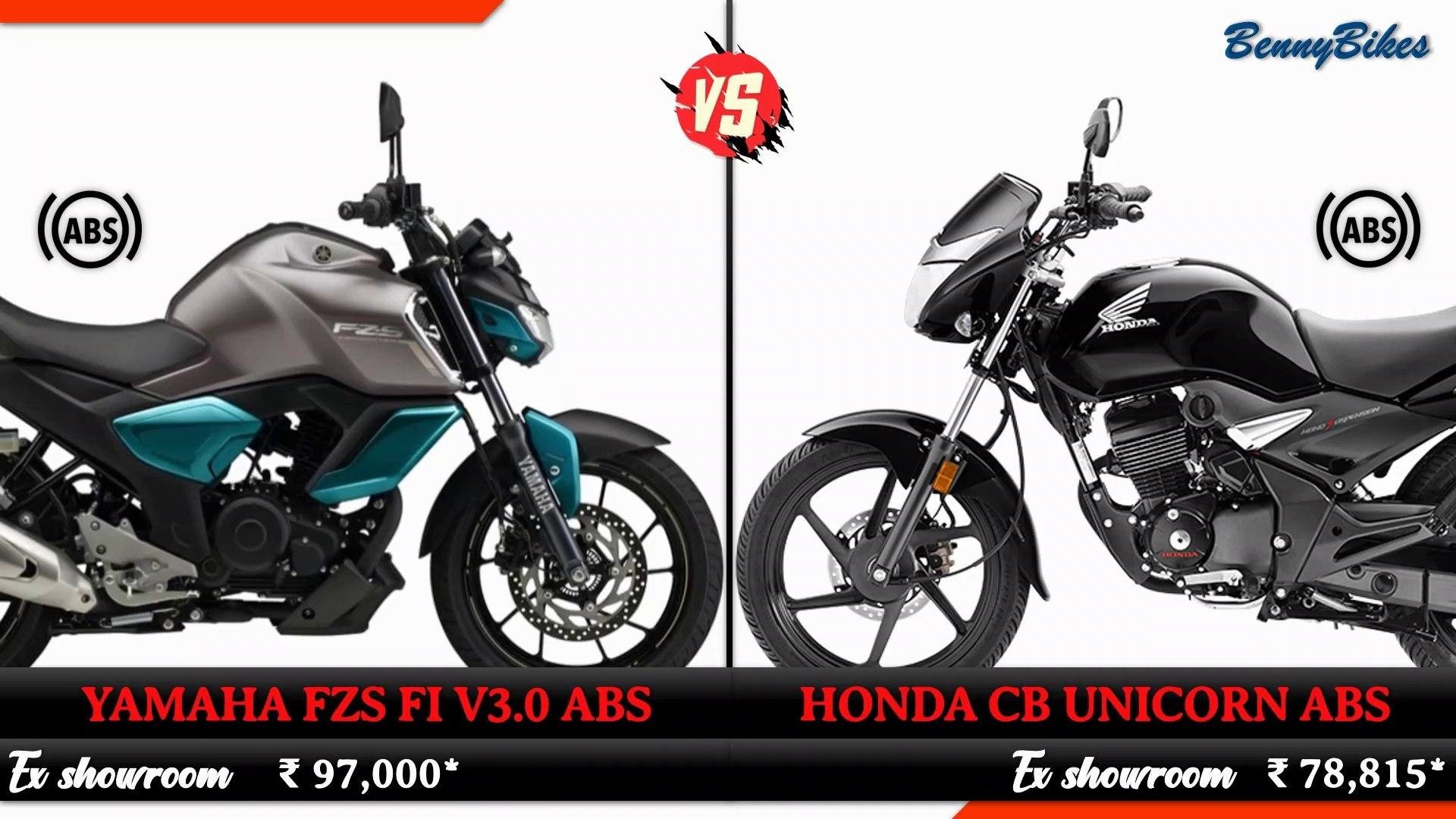 2019 New Yamaha FZS FI V3 ABS VS 2019 All New Honda CB Unicorn ABS