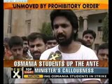 Students at Osmania University clash with police