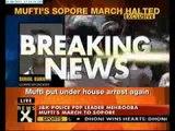 Mufti, Geelani under house arrest