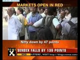Sensex plunges 161 points; opens in red