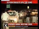 Pranab, Chidambaram meet Sonia over 2G row