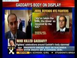 Gaddafi's dead body on public display at shopping centre