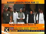 Parliament's Budget session starts on 12th March-NewsX