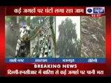 India News: Roads flooded, traffic hit as heavy rain lashes Delhi