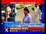 Dinesh Triivedi refuses to resign as rail minister-NewsX