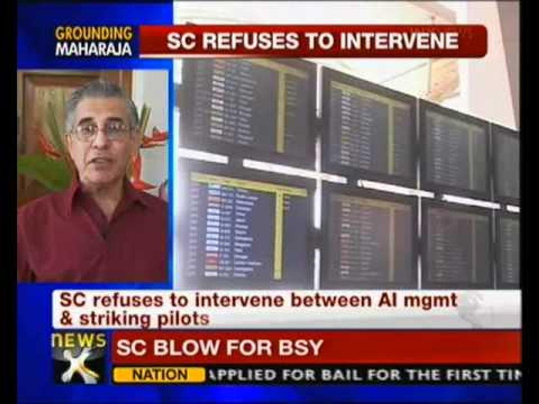 SC not to intervene in Air India pilots' strike - NewsX