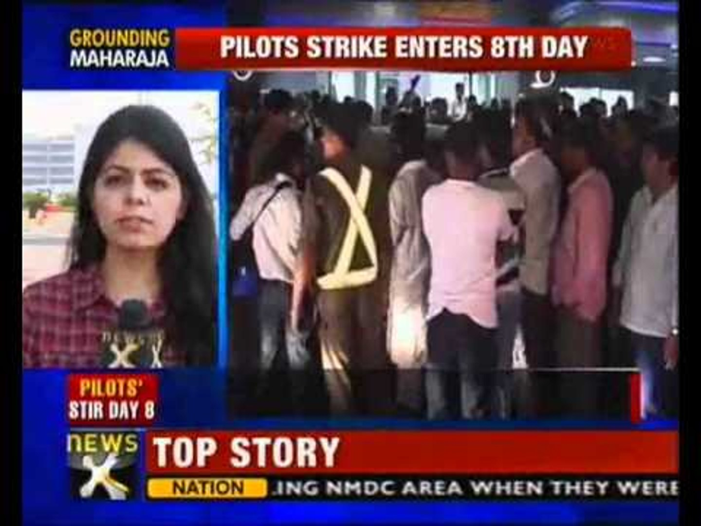 Pilots' strike enters 8th day, Air India operations badly hit - NewsX