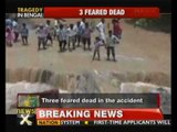 West Bengal: Passenger bus falls in river; 43 rescued, 3 feared dead - NewsX