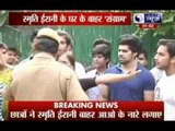 DU admissions: University students protest at minister's house