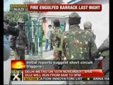 J&K: Fire in Bandipora army barrack; 1 dead - NewsX